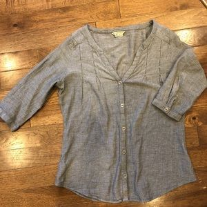 Royal Robbins Gray Button Down Blouse